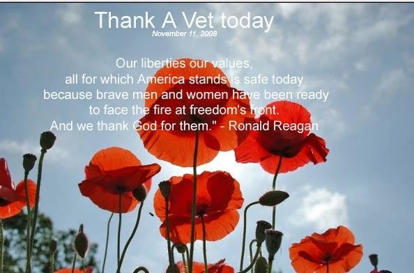 Thank a Vet today-Veterans Day 11-11-08 | Through The Garden Gate.....