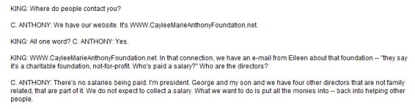 Caylee Foundation on LK part 2