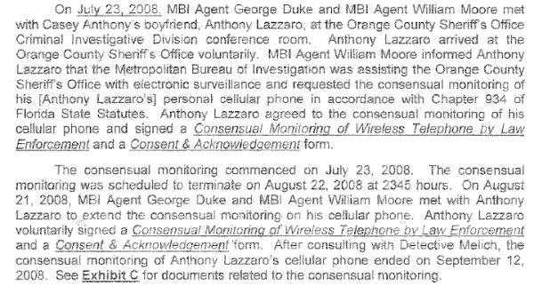 tony lazaro agrees to have his phone monitered