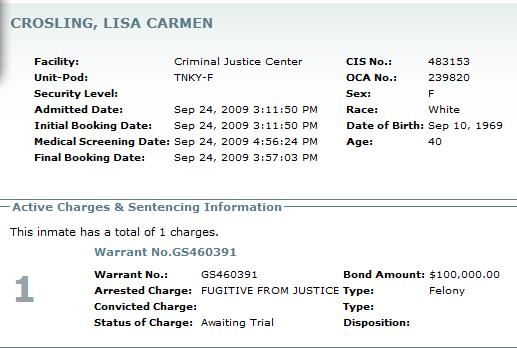 Lisa Croslin booked