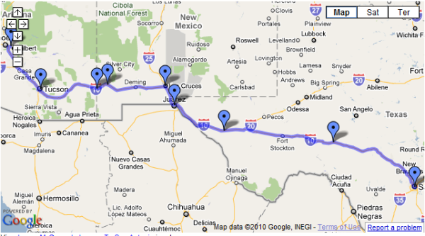 Logan McQueary's route